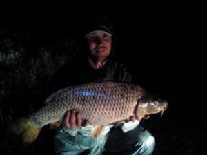 Az év legnagyobb hala.Vágó Gyula fogta Gyopároson a Déli tavon 2015-ben.